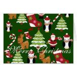 Las Felices Navidad doblaron tarjetas de felicitac