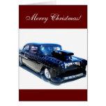 Las Felices Navidad ennegrecen la tarjeta de coche