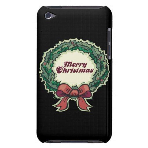 Las Felices Navidad enrruellan iPod Touch Protectores