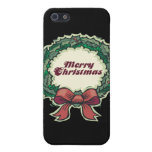 Las Felices Navidad enrruellan iPhone 5 Cárcasas