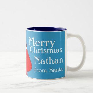 Las Felices Navidad los muchachos rojos/azules de  Taza De Café