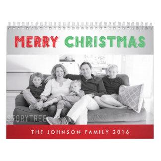 Las Felices Navidad personalizaron los calendarios