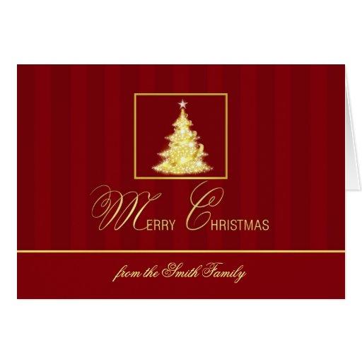 Las Felices Navidad personalizaron tarjetas formal