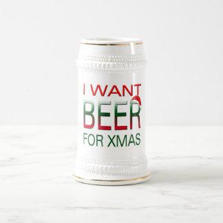 las Felices Navidad quiero la cerveza para el Jarra De Cerveza