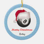 Las Felices Navidad Santaball de PoolChick persona Ornamento Para Arbol De Navidad