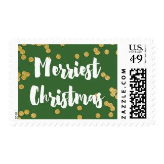 Las Felices Navidad - sellos del oro verde