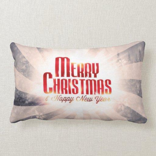 Las Felices Navidad y la Feliz Año Nuevo soportan Cojín