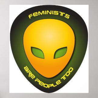 Las feministas son gente también posters