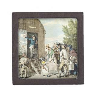 Las ferias: La demostración, c.1821 (litho del col Cajas De Regalo De Calidad