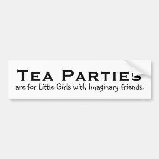 Las fiestas del té están para las niñas… pegatina de parachoque