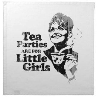 Las fiestas del té están para las niñas - Faded.pn Servilletas