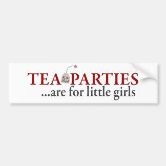Las fiestas del té están para las niñas pegatina para auto