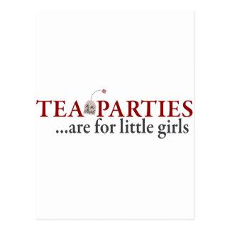 Las fiestas del té están para las niñas postal