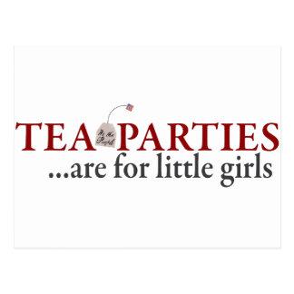 Las fiestas del té están para las niñas tarjeta postal