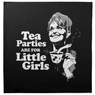 Las fiestas del té están para las pequeñas muchach servilletas
