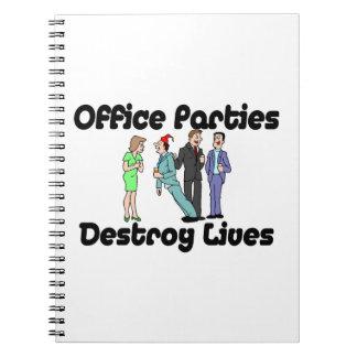 Las fiestas en la oficina destruyen vidas libreta espiral