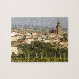 Las filas de las vides de uva en el primero plano  puzzles con fotos