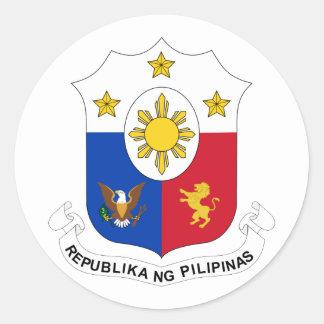 las Filipinas, Filipinas Pegatina Redonda