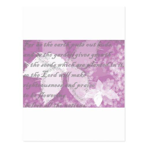 Las floraciones de dios postal