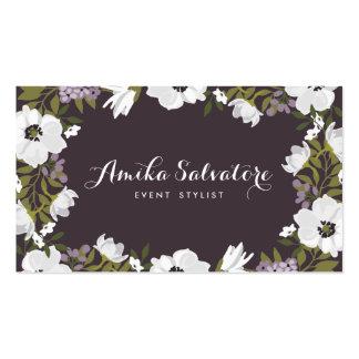 Las floraciones de la anémona de la lila tarjetas de visita