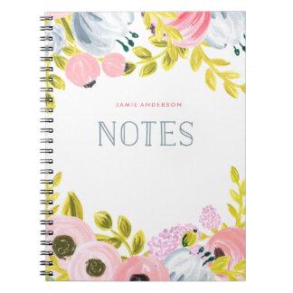 Las floraciones dulces personalizaron el cuaderno