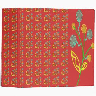 """Las flores abstractas coloridas con el fondo rojo carpeta 2"""""""