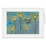Las flores abstractas del arte moderno modifican s tarjeta