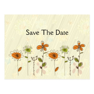 Las flores abstractas del naranja y de la cal ahor tarjetas postales