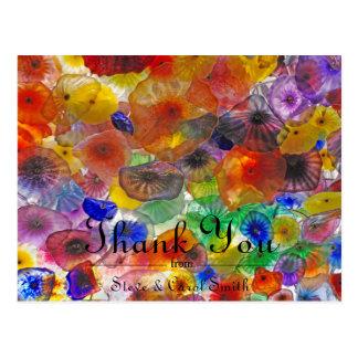 Las flores abstractas le agradecen cardar postal