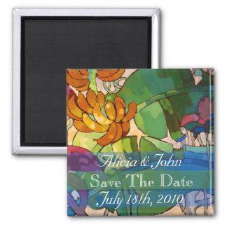 Las flores - ahorre el imán de la fecha