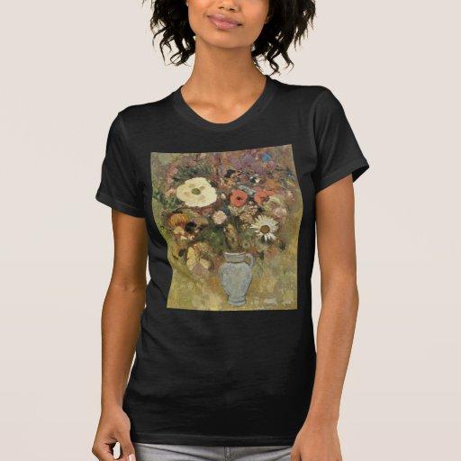 las flores amarillas en un florero, Odilon Redon Camisetas