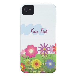Las flores coloridas - personalice carcasa para iPhone 4 de Case-Mate