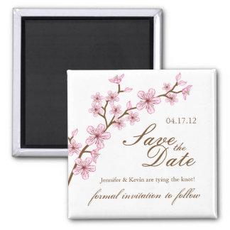 Las flores de cerezo ahorran el imán del boda de l