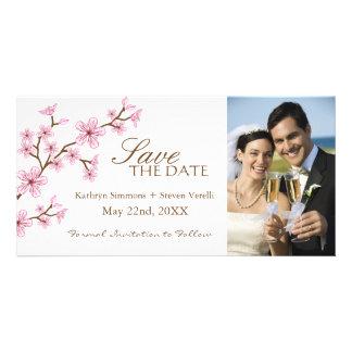 Las flores de cerezo ahorran la invitación de la f tarjetas fotográficas