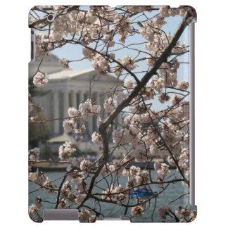 Las flores de cerezo en la floración en Washington Funda Para iPad