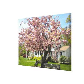 Las flores de cerezo envolvieron la lona impresion en lona