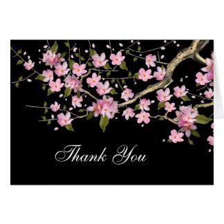 Las flores de cerezo japonesas rosadas le tarjeta pequeña