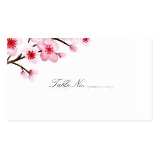 Las flores de cerezo que casan el lugar cardan 100 tarjetas de visita