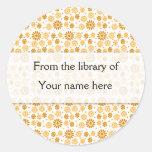 Las flores de Digitaces personalizaron Bookplates Pegatina Redonda