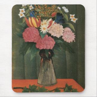 Las flores de Henri Rousseau en un florero (1909) Tapete De Raton