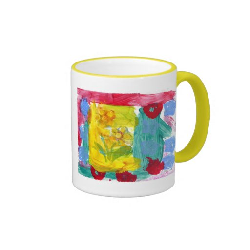 Las flores de la abuela taza de dos colores