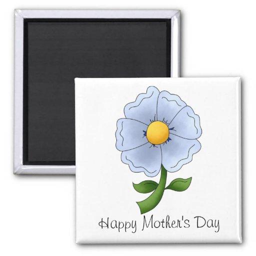 Las flores de la madre · Flor azul Iman De Nevera