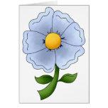 Las flores de la madre · Flor azul Tarjetas