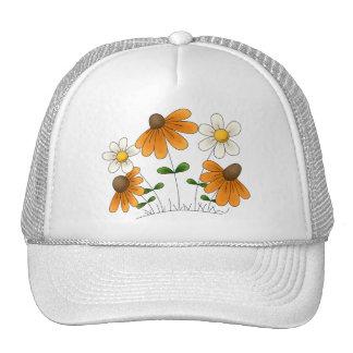 Las flores de la madre · Margaritas anaranjadas y  Gorras