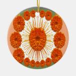 Las flores de la MARAVILLA - case el oro Adorno Para Reyes