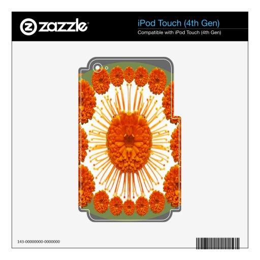 Las flores de la MARAVILLA - case el oro iPod Touch 4G Calcomanía