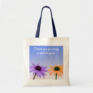 las flores de la margarita le agradecen bolsa tela barata
