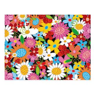 Las flores de la primavera agradecen la postal ust