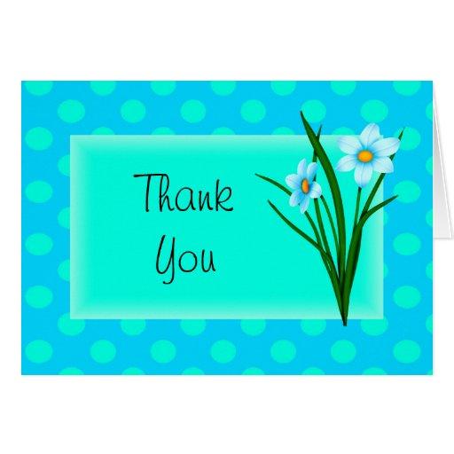 Las flores de la primavera le agradecen observar tarjeta de felicitación