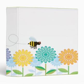 las flores de la primavera y manosean la abeja